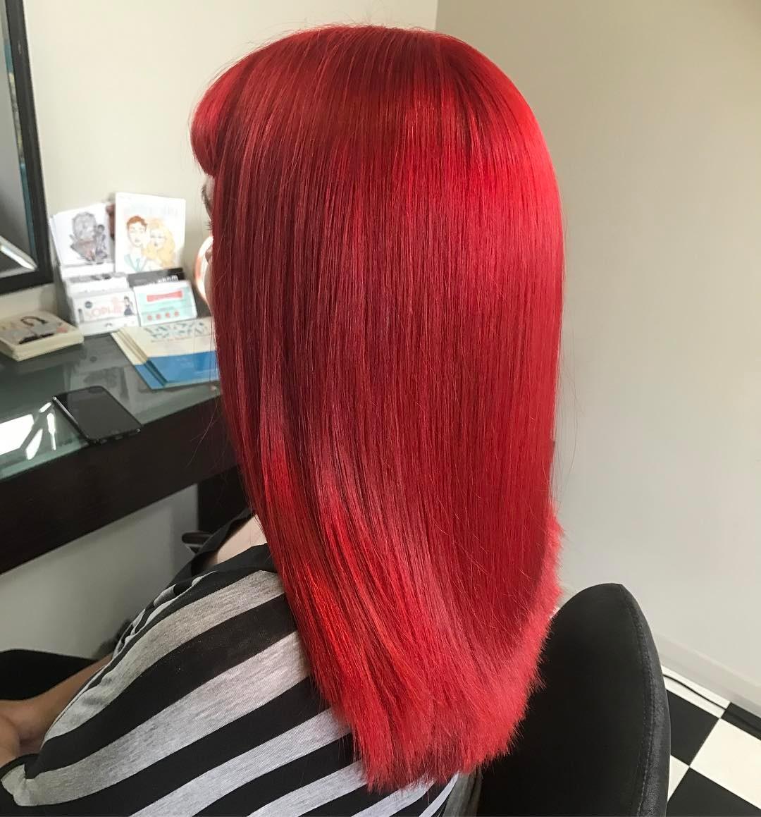 Stunning Bright Red Hairs