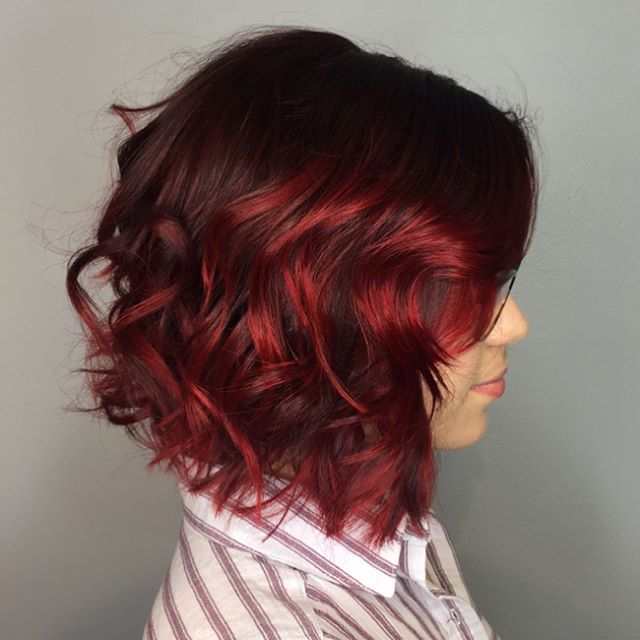 Textured Waves Red Hairs