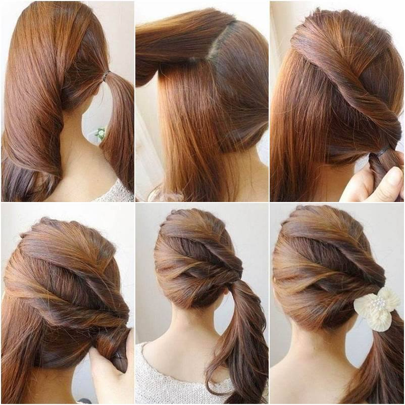 Twisted Side Ponytail Hairstyles Tutorials