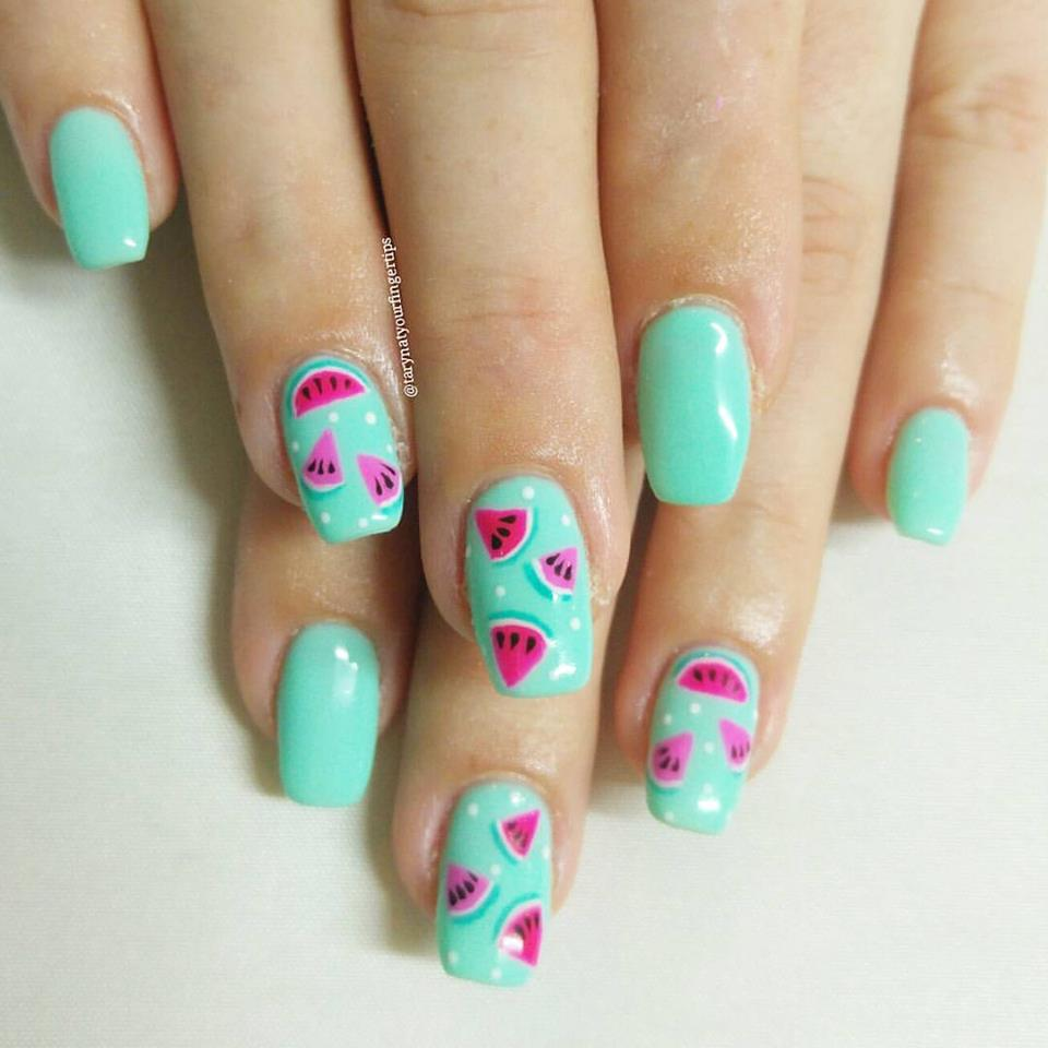 Watermelomn Nails
