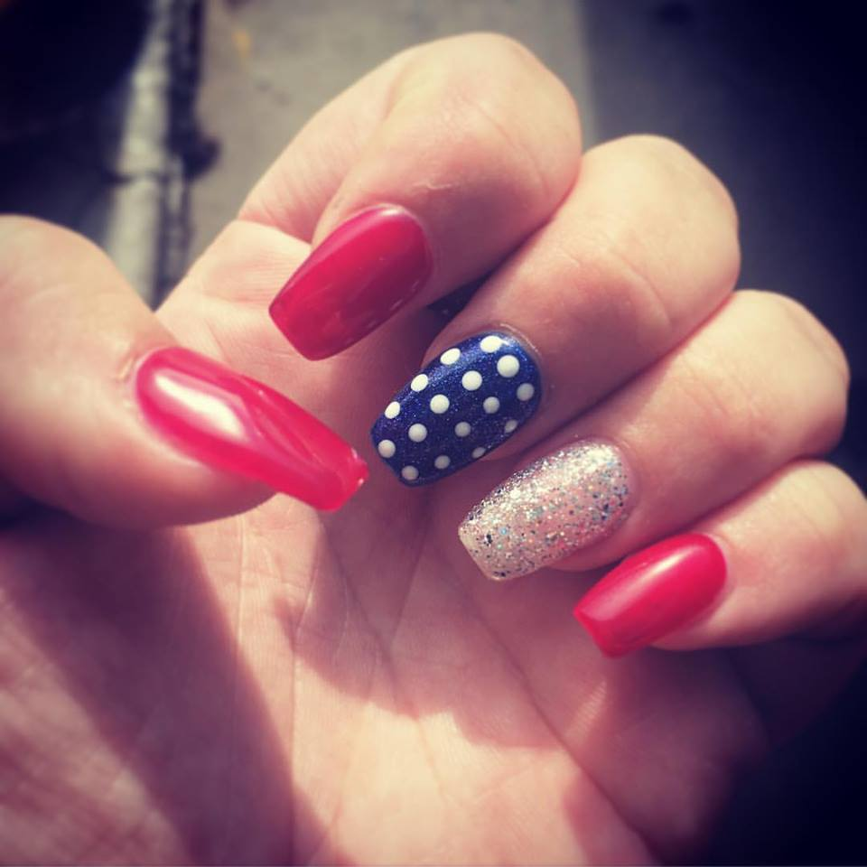 4th July Nail Art Idea