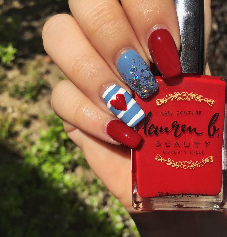 Adorable 4th July Nails