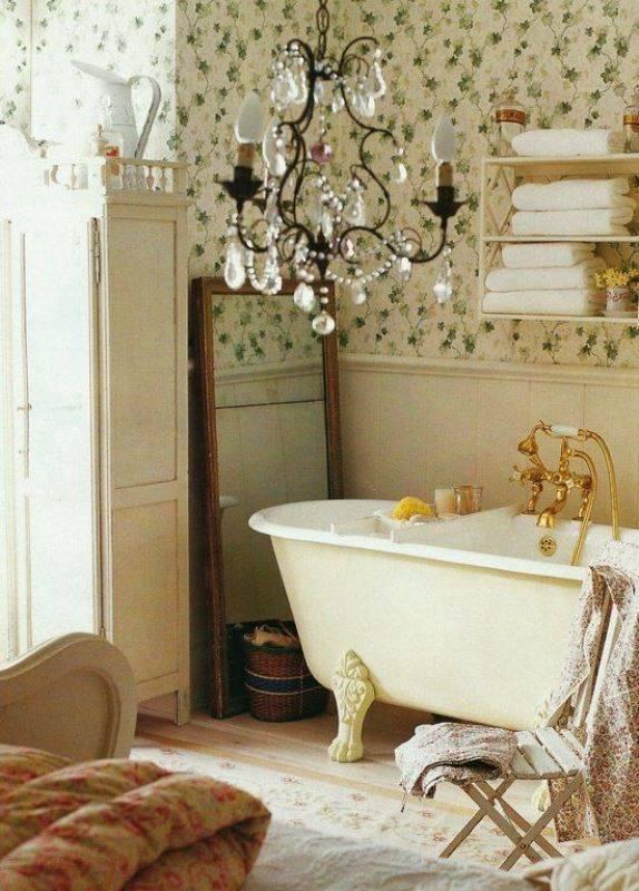 Adorable Candlier Adorable Shabby Bathroom Amazing Storage Decor Idea ...