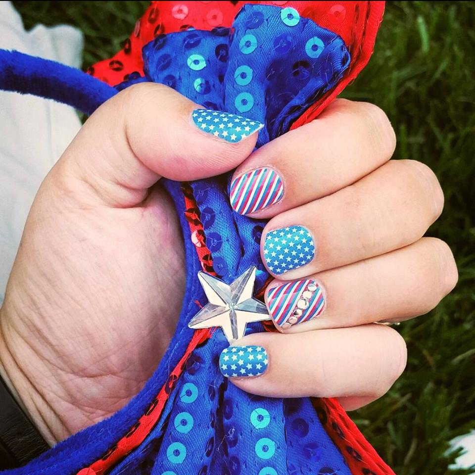 Amazing 4th July Nail Art