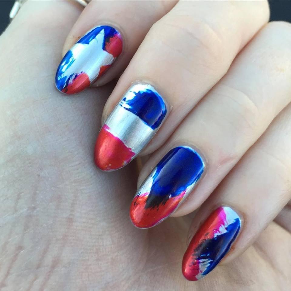 Amazing Patroitic Nails