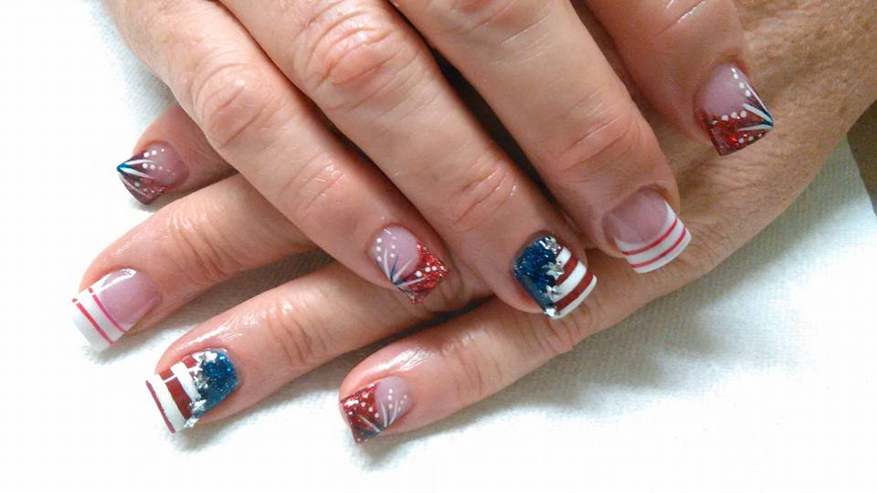 Awesome 4th July Nails
