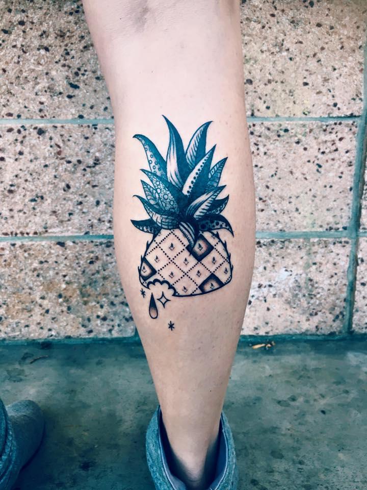 Awesome Pineapple Tattoo