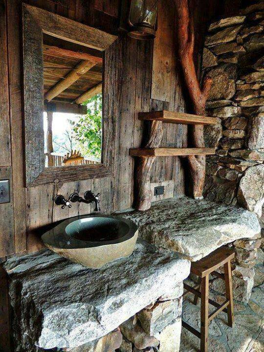Awesome Rustic Bathroom Design