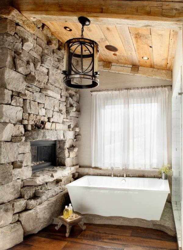 Awesome Stone Wall With Candlier