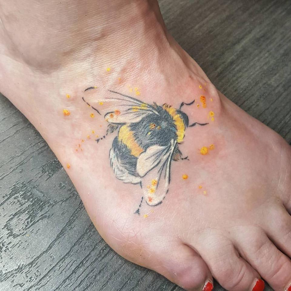 Bee On Foot