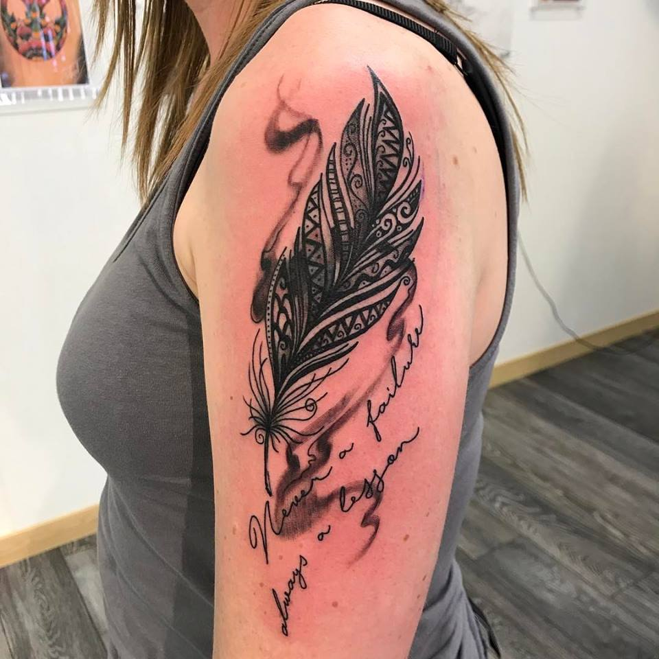 64 simple and beautiful feather tattoo idea for fashion for Feather tattoo on arm