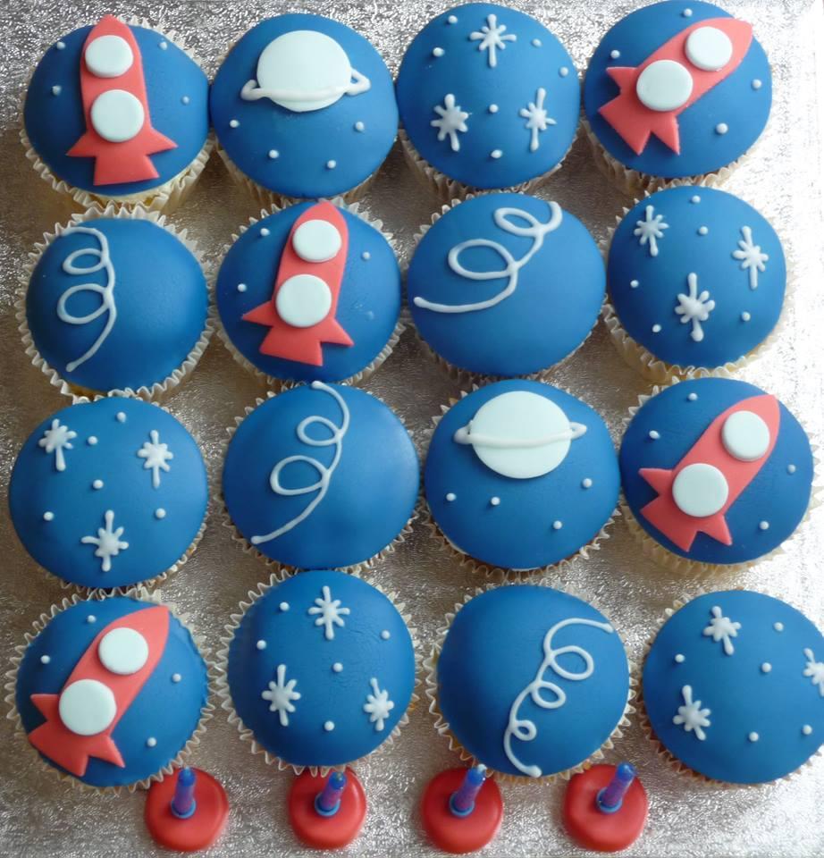 Blue Cup Cake Idea