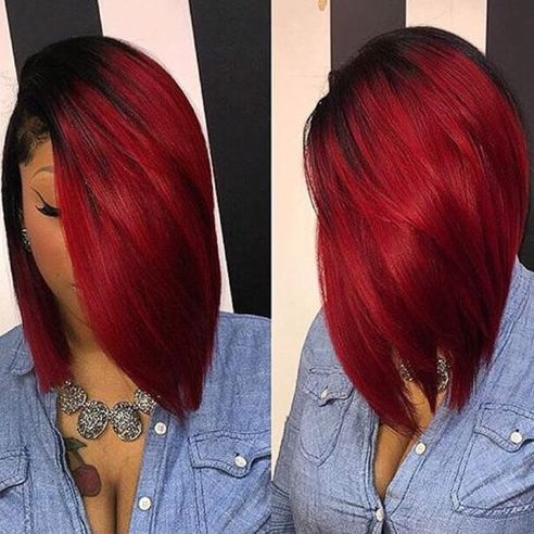 Bob Style Red Hairs With Bangs