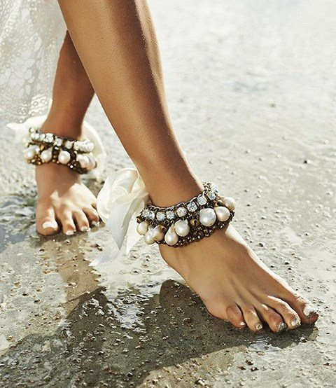 Boho Pearl Anklet