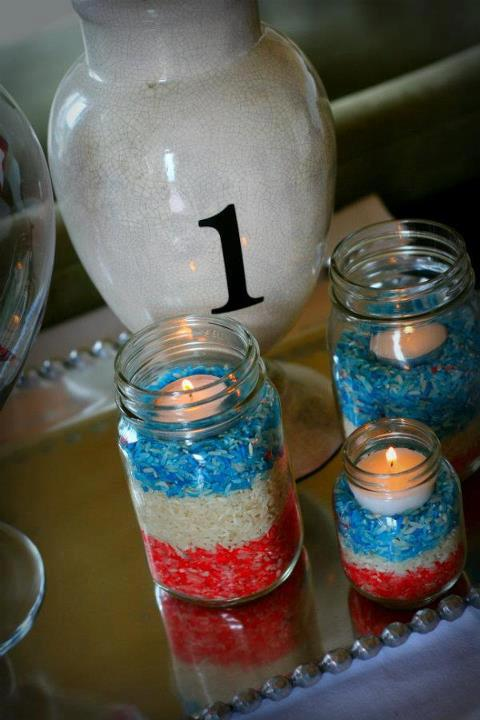 Candles Made By Colored Rice