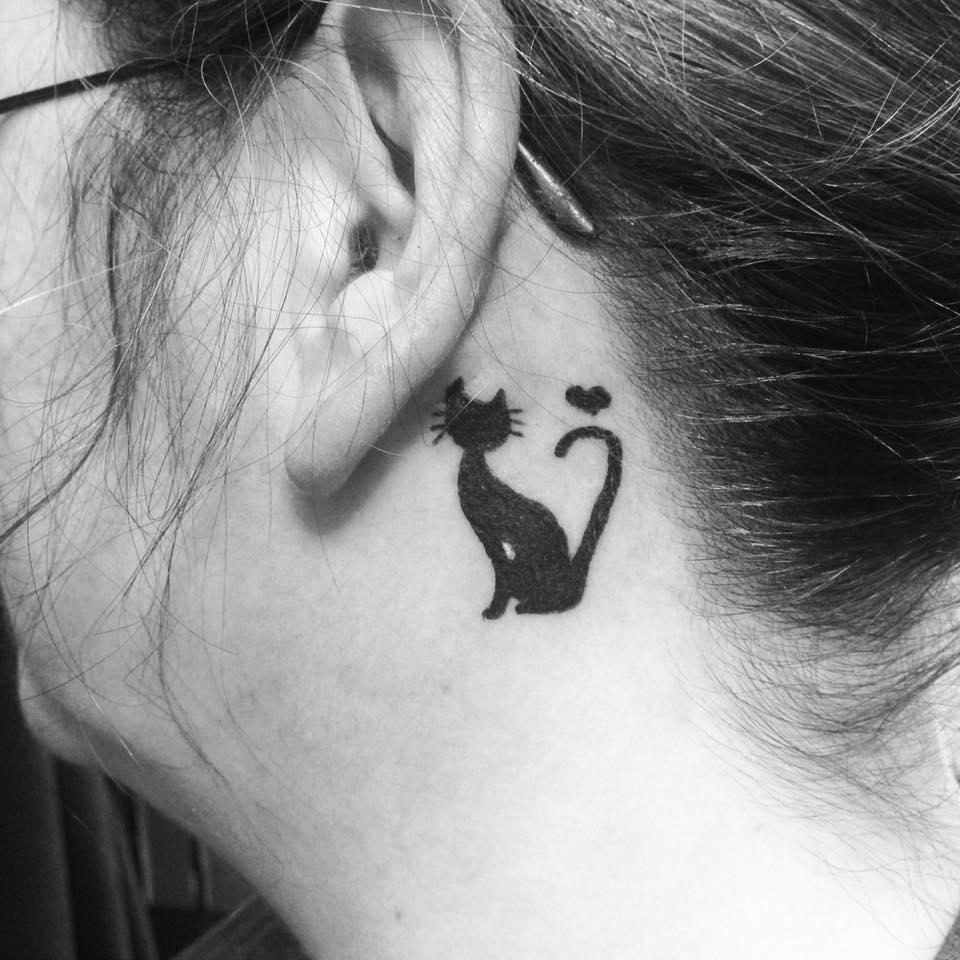 Cat Mamorial Tattoo