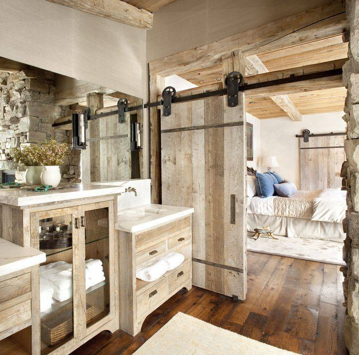 Chic Rustic Bathroom Decor Idea