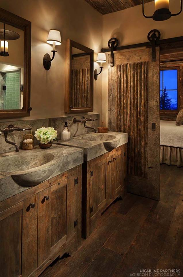 Concrete Sink With Barn Door
