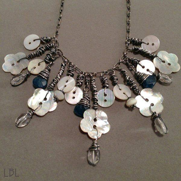 how to make a button necklace with wire