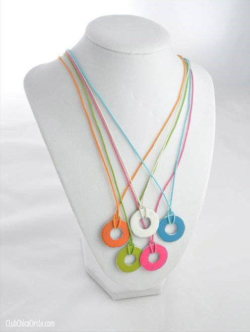 DIY Necklace With Washers