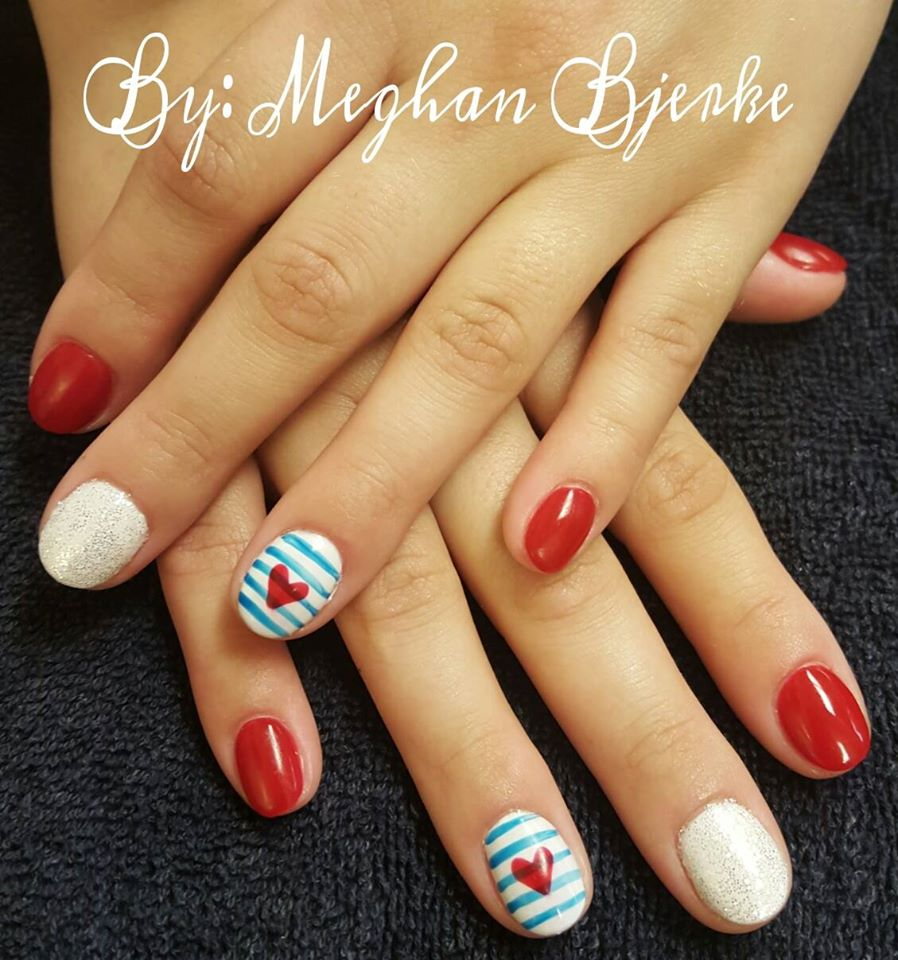 Hand Sculpted Memorial Day Acrylic Nails