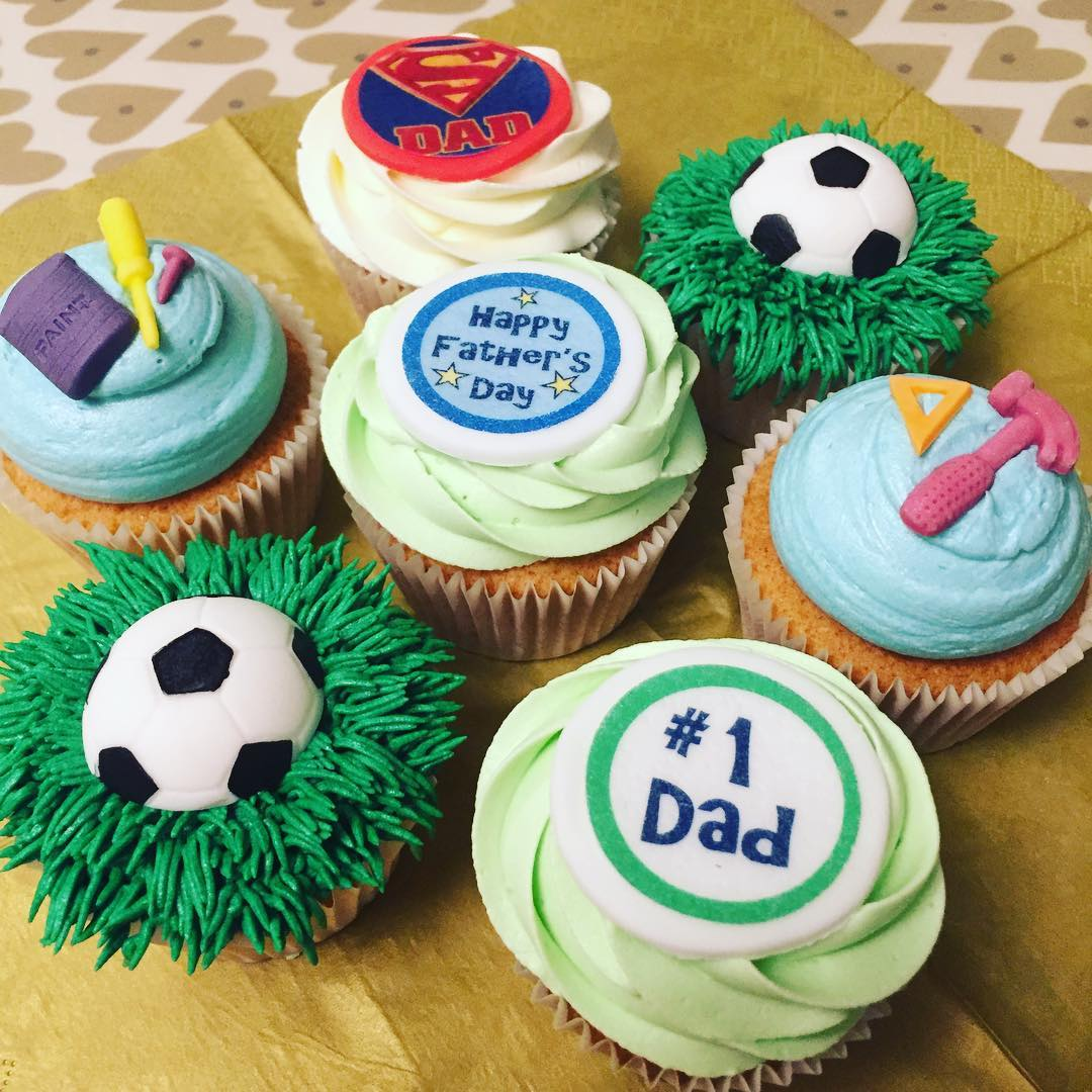 Handmade Cup Cakes For Fathers Day