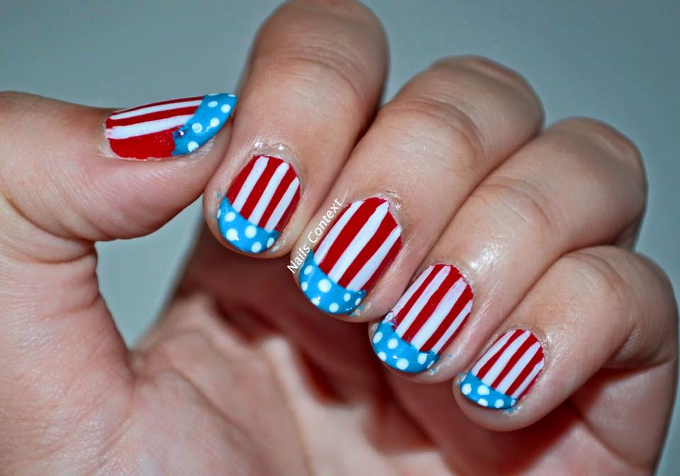 Independence Day Flag Nails