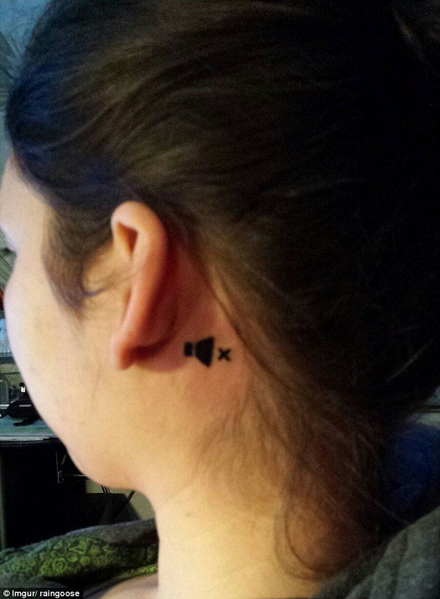 Ingenious Tattoo Behind The Ear To Show She Is Deaf