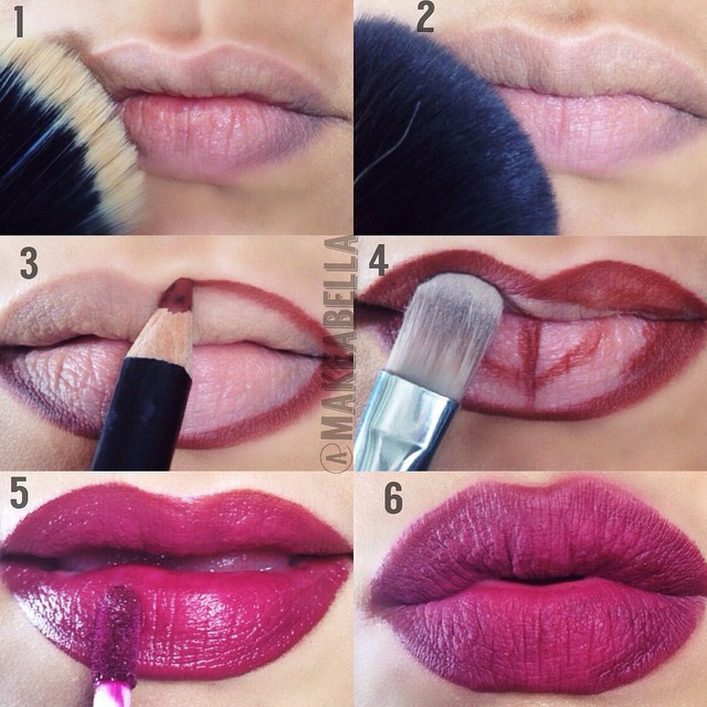 Lipstick tutorial for small lips