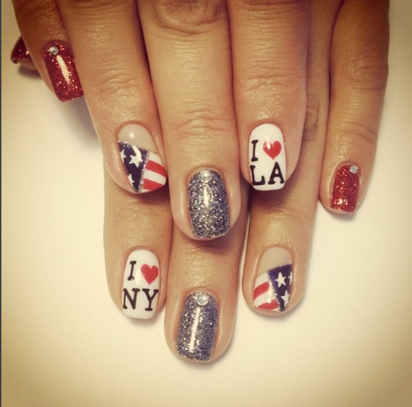 Lovely 4th July Nails