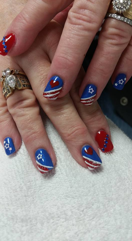 Lovely Patriotic Nails
