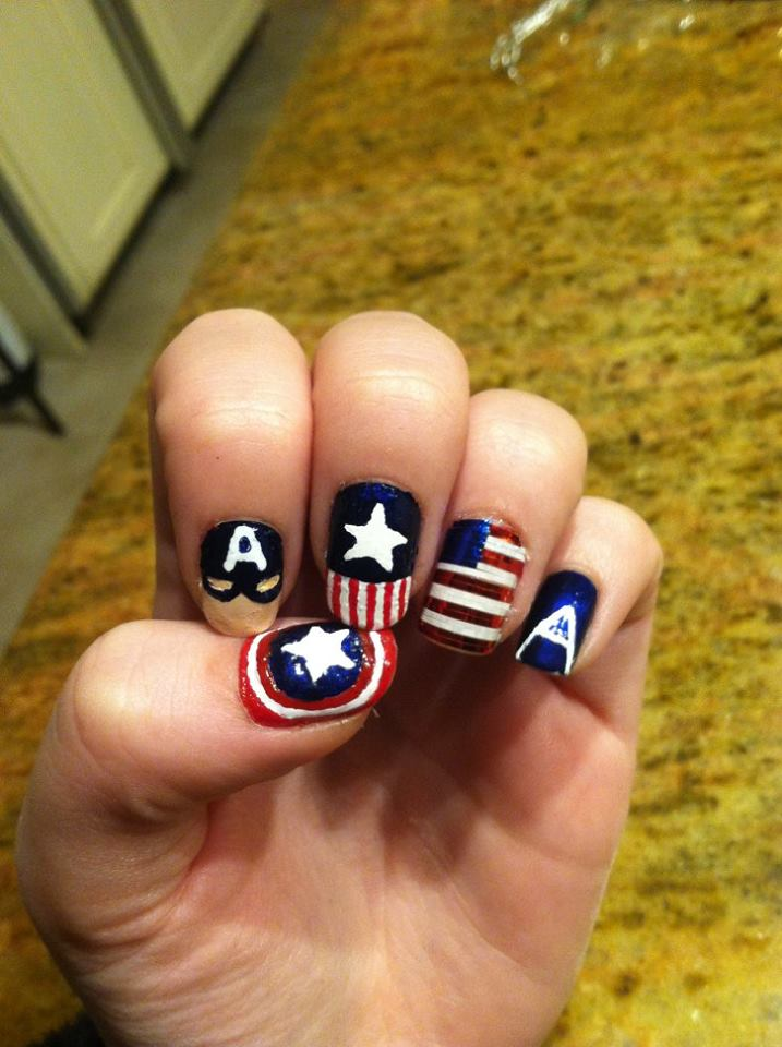 Marvellous Patriotic Nails