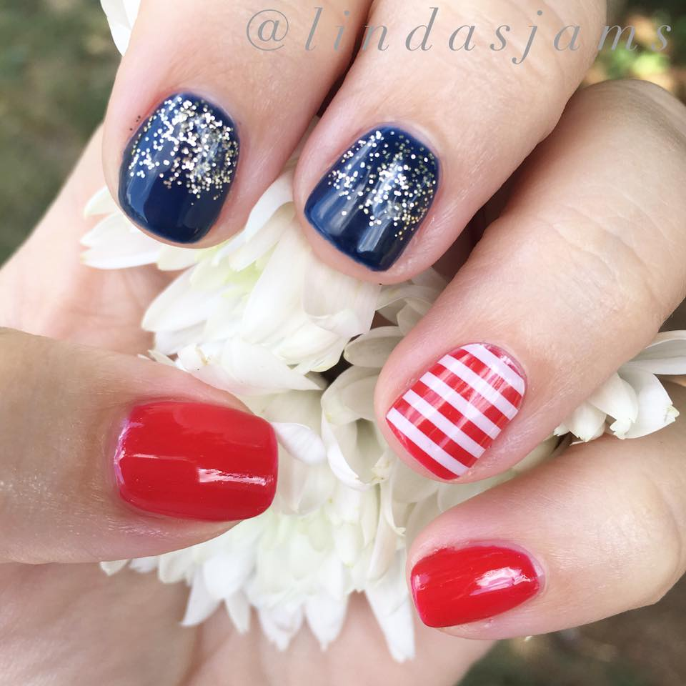 Memorial Day Nail Art Idea