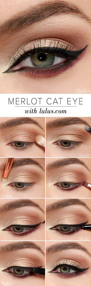 Merlot Eye Makeup