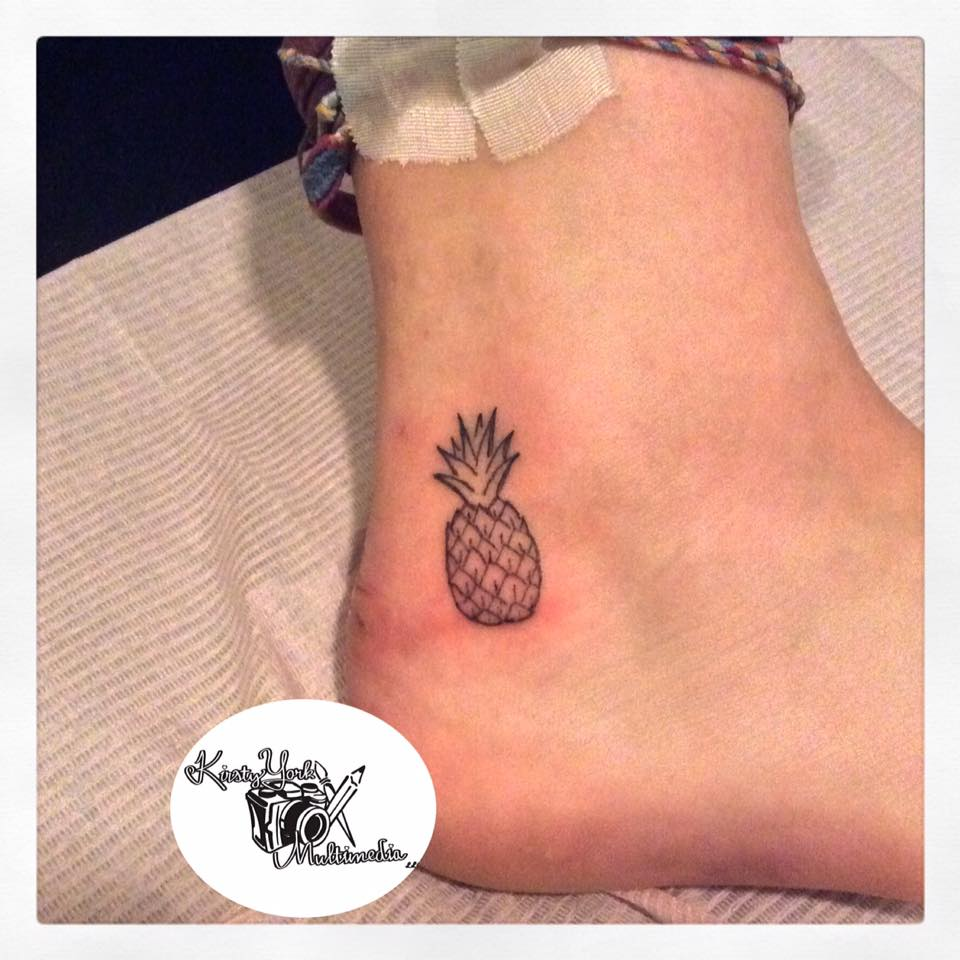 Mini Pineapple On Ankle