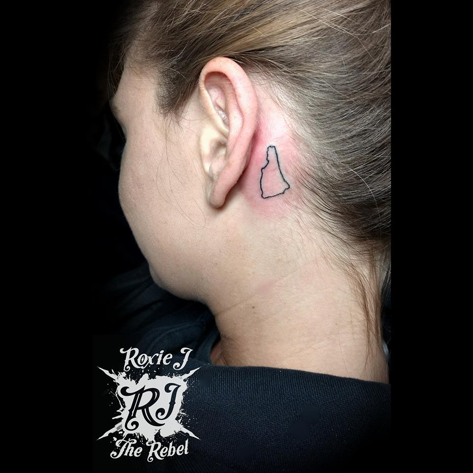 New Hampshire Inked Behind The Ear