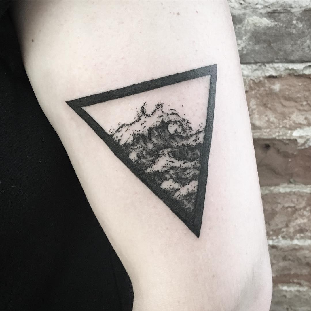 Ocean In Triangle