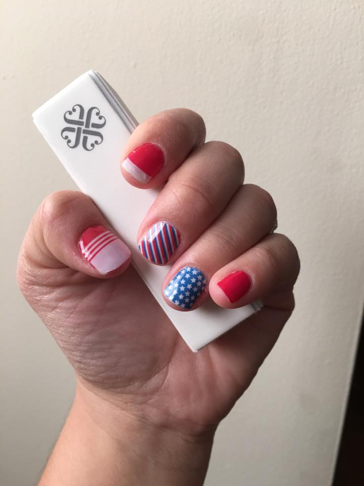 Patriotic French Tips Nails