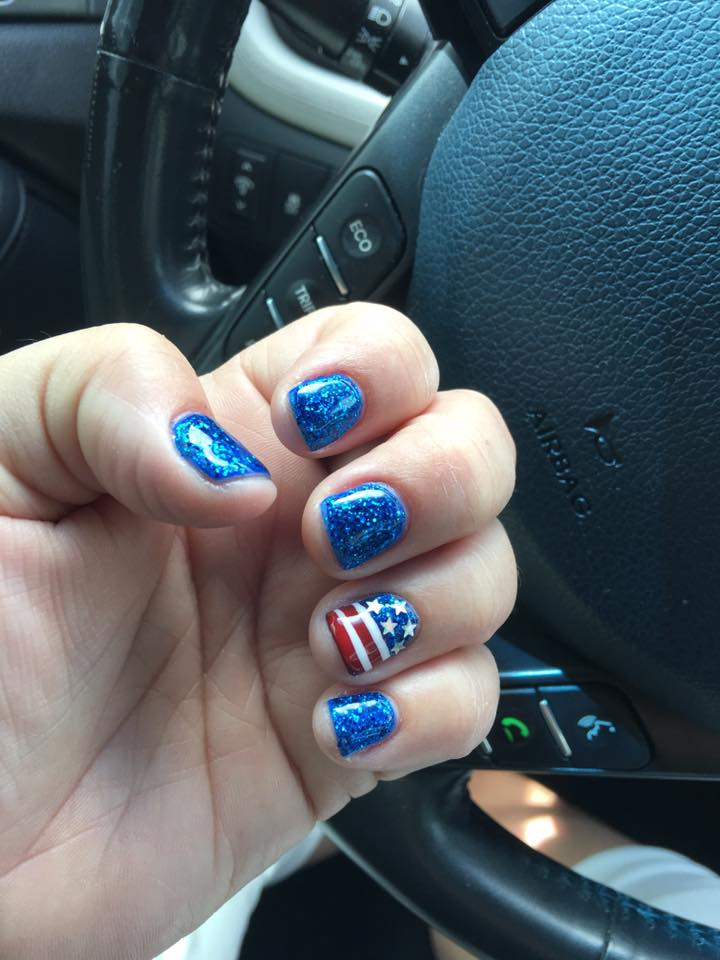 Patriotic Manicure Idea