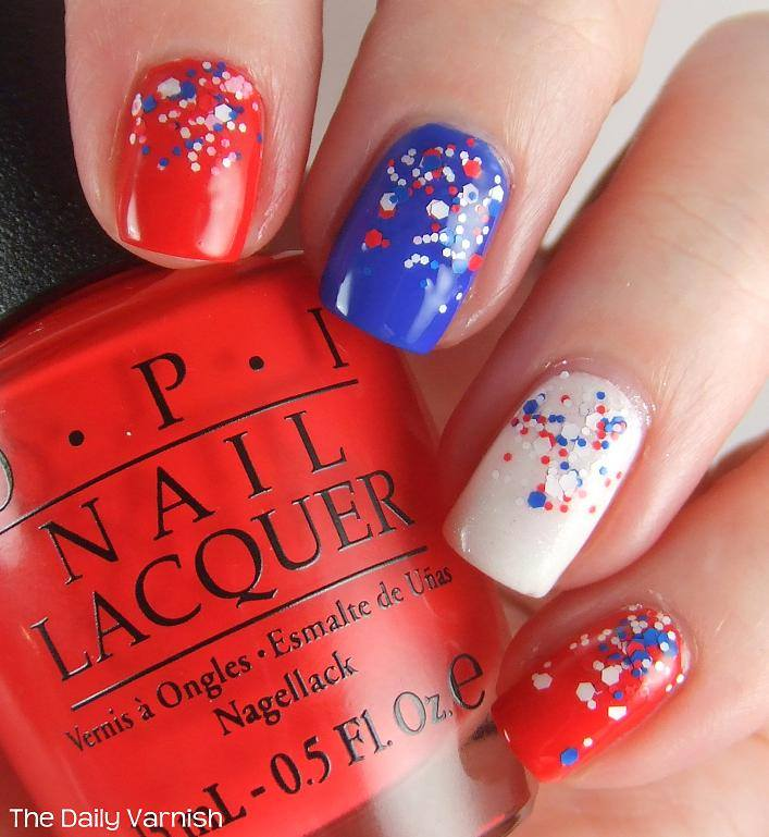 Patriotic Nail Art Idea