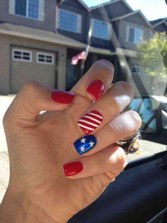 Patriotism Nail Art