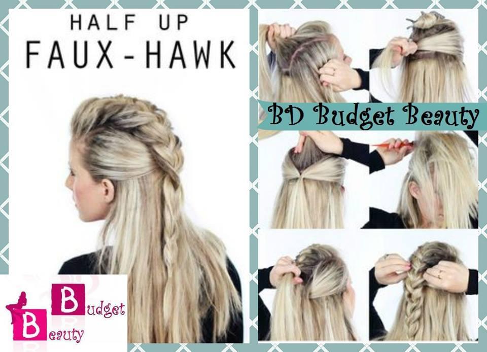 Perfect Half Up Faux Hawk Hairstyle Tutorial Blurmark