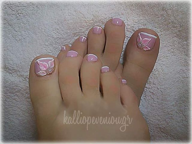 Pink Handpaint Pedicure
