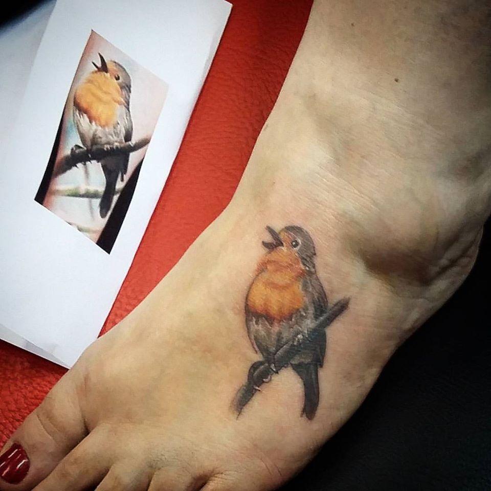 Robin Bird Tattoo