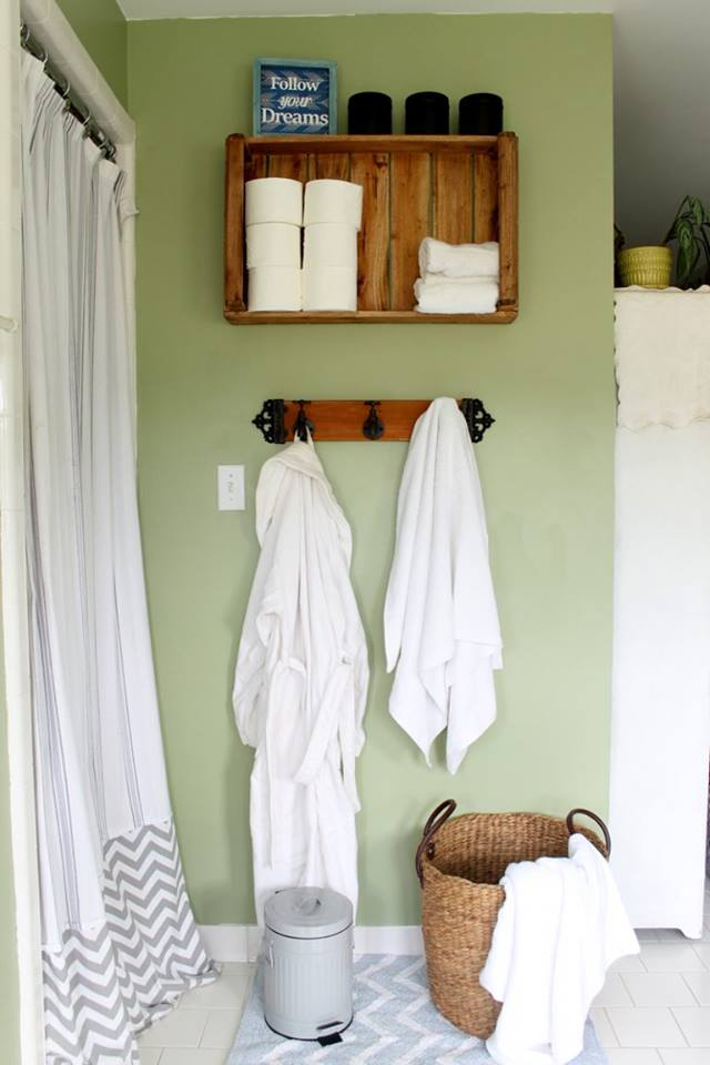 Rustic Bathroom Storage Idea