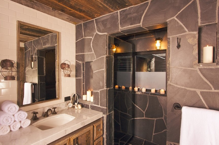 Rustic Cozy Bathroom