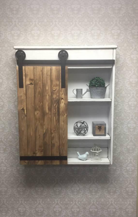 Wooden Sideboard Bathroom