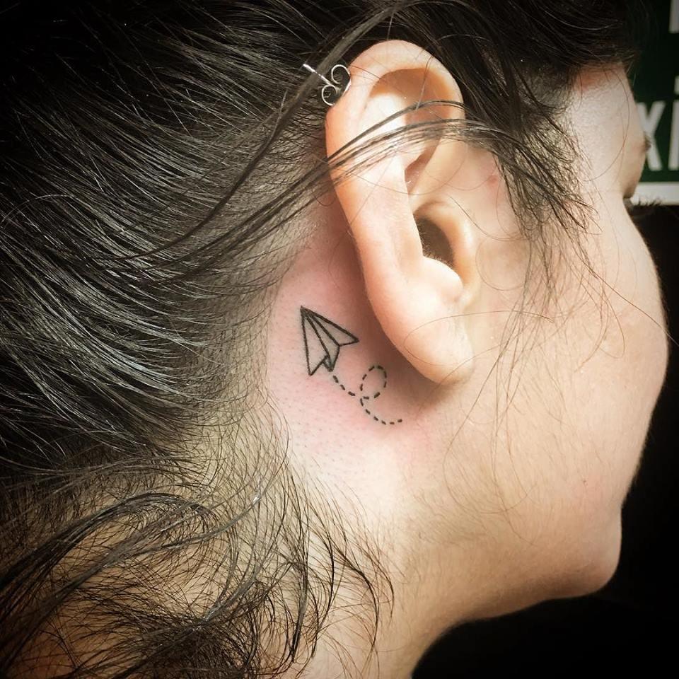 Small Paper Plane Tattoo