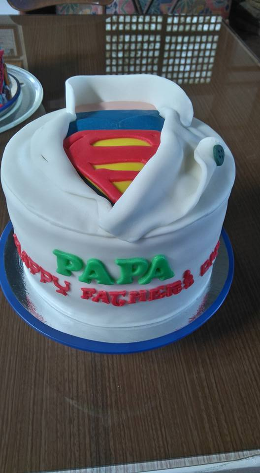 Super Dad Cake Idea