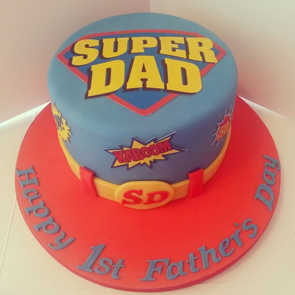 Super Dad Fun Cake Idea